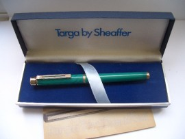 SHEAFFER TARGA 1183 GREEN SWIRL Mint!