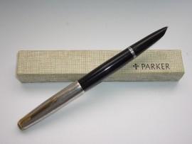 PARKER 51 R/SILVER BROAD OBLIQUE NIB