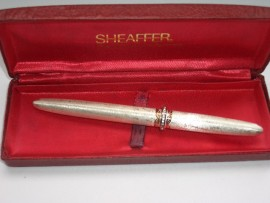 SHEAFFER LADY XVII BROCADE SILVER 1958
