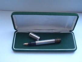 WATERMAN 42½V SILVER SAFETY  PEN c1915