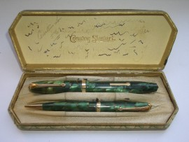CONWAY STEWART 84 SET GREEN MBL 1952