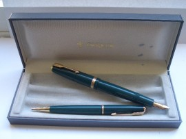 PARKER DUOFOLD SET 1950s GREEN