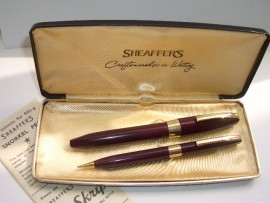 SHEAFFER PFM 111 SET BURGUNDY c1959