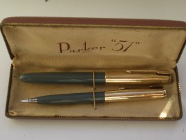 PARKER 51 CUSTOM SET NAVY GREY 1953