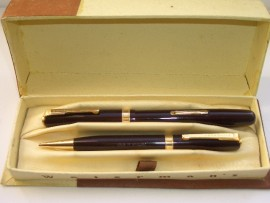 WATERMAN 515 SET BURGUNDY 1947 Nr MINT