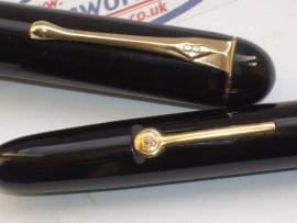 BURNHAM 50 BLACK c1939 Lever Fill
