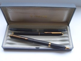PARKER 95 SET MATTE BLACK 1992 Mint.