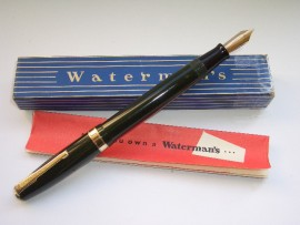 WATERMAN 515D BUTTON FILL GREEN 1940s
