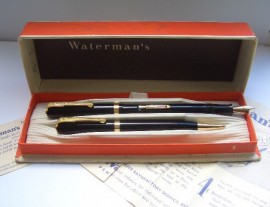 WATERMAN 513 SET BLACK c1947 Nr Mint!