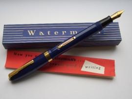 WATERMAN 515 BLUE BROAD 1954 UNINKED!