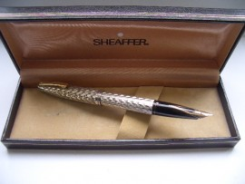 SHEAFFER IMPERIAL 834 SILVER MARQUETRY
