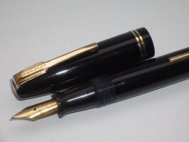 WATERMAN IDEAL LEVER FILL BLACK 1940s