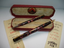 SUMMIT S125 SET RED MARBLE BOXED 1930s