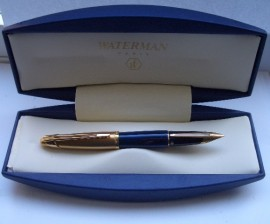 WATERMAN EDSON GT BLUE F/PEN MINT!