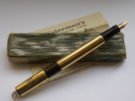 WATERMAN 42 SAFETY PEN RINGTOP 1920s