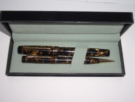 CROXLEY SET  BROWN PEARL Marble 1940s