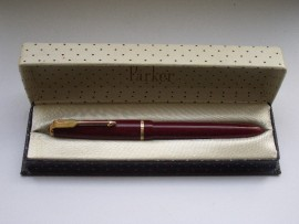 PARKER DUOFOLD SLIMFOLD 1960s RED