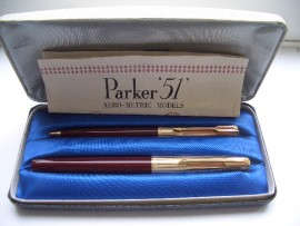 PARKER 51 Mk II CUSTOM SET c1969 MINT!