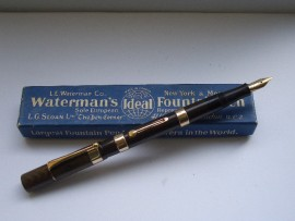 WATERMAN 52 9ct GOLD BANDS 1920