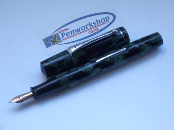 Ingersoll Sage Marble 14ct Nib 1940s Penworkshop Sale