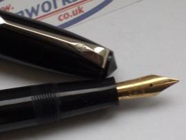 CONWAY STEWART 15 F/Pen BLACK 1950s