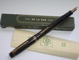 DE LA RUE 1332-38 BLACK HR BOXED 1930s