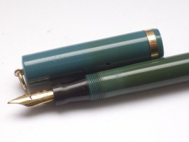 CONKLIN LADY RINGTOP PASTEL BLUE 1927