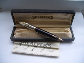 SHEAFFER PFM 1V SNORKEL BLACK c1959