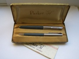 PARKER 51 CLASSIC SET NAVY GREY 1955