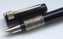 WATERMAN SERENITE F/PEN BLACK/SILVER